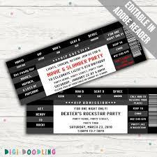 Concert Invite Template Ticket Invitation Template Birthday Party Concert Movie Party Invitation Black Editable Pdf Instant Download