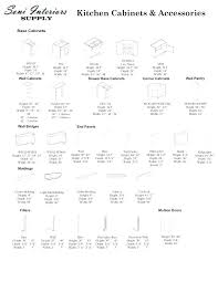 wall cabinet sizes kitchen