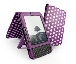 polkahot faux leather case cover amp stand for amazon kindle
