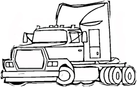 Small Picture Semi trailer truck coloring page Free Printable Coloring Pages