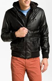 obey black faux leather hodded rider jacket cairoamani com green hooded leather jacket