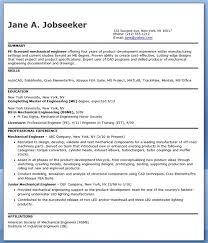 Resume For Mechanical Engg Mechanical Engineering Resume Resume Badak
