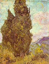 two cypresses 1889