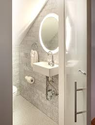 trinity lighted mirror by electric mirror for a small bathroom ylighting