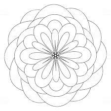 アンチ ストレス治療パターン塗り絵センターで花と曼荼羅のテンプレート
