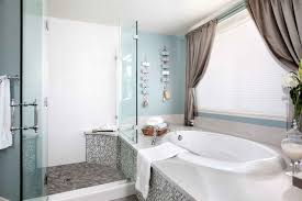 Luxe Master Bathroom Boasts Oval Tub And Walk In Shower Design Combo (Image  11 of