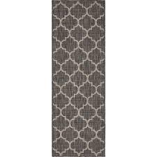 unique loom outdoor black 2 x 6 runner indoor outdoor rug