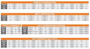 Australia Vs Us Shoe Size Chart European Shoe Size 37 To Australian
