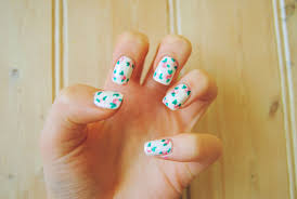 floral nails tutorial 060