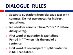 Dialogue Rules Separate Quotations From Dialogue Tags With
