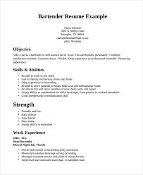 Example Bartender Resume Enchanting Bartender Resume Template Free Word Pdf Document Downloads Templates