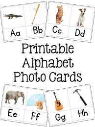 alphabet picture cards teaching the alphabet prekinders