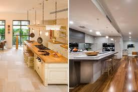 kitchen floor hardwood vs tile