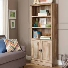 better homes and gardens crossmill bookcase with doors multiple finishes com