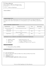 Electrical Engineer Fresher Resume How To Draft An Electrical