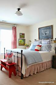 Southern Bedroom Farmhouse Christmas Guest Room Bhome Bloggers Pinterest