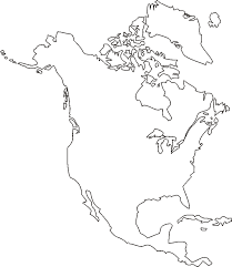 North And South America Blank Map North America Map Drawing At Getdrawings Com Free For