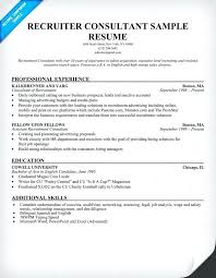 Recruiter Resume Sample Sample Recruiter Resume Com Hr Recruiter
