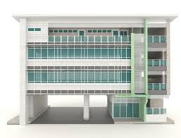 office exterior design. Download 3D Modern Office Building Architecture Exterior Design In White Stock Illustration - Of Buildings D