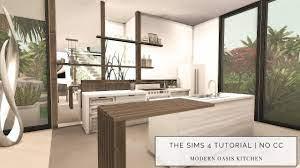The Sims 4 Tutorial No Cc Modern Oasis Kitchen Modern Kitchen Design Speedbuild Youtube