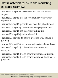 14 useful materials for sales and marketing assistant sample marketing assistant resume