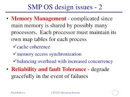 Os Design Issues Ppt Multiprocessors And Threads Powerpoint Presentation