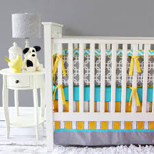 modern baby boy crib bedding  colorful and contemporary baby