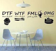 kitchen funny wall stickers art dining