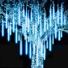 6 Màu 30/50Cm 8 Ống LED Dây Đèn Ngoài Trời Mưa Sao Băng Đi Mưa Chống Thấm  Nước Cho Cây Giáng Sinh Cưới trang Trí Tiệc Dây Đèn LED