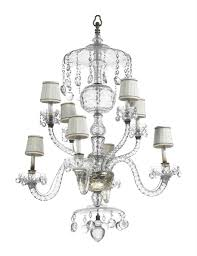 an english cut glass eight light chandelier parts possibly 18th century