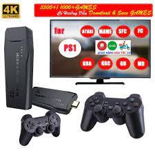 Game stick 4K] Máy Chơi Game 4 Nút HDMI Không Dây Hơn 3000 Trò Chơi - Máy  chơi game không dây - tích hợp 1000 games - Phụ kiện Gaming