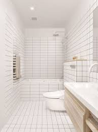 bathroom tile idea use the same tile on the floors and the walls white