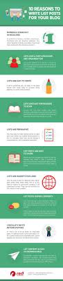 Blog Post List Design 10 Reasons You Should Write List Posts For Your Blog Red