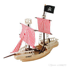 large wooden pirate ship toy for kids multicolor cargo ship model type 22 frigate model from m1498882357 530 66 dhgate com
