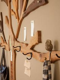 Wall Tree Coat Rack Furniture DIY Clothes Rack On Wall Photos Rustic Mudroom With Hand 19