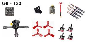 gb 130 small fpv racing drone diy kit super powerful with top parts