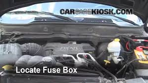 replace a fuse 2003 2005 dodge ram 2500 2003 dodge ram 2500 5 7 locate engine fuse box and remove cover