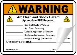 Write On Warning Arc Flash And Shock Hazard Label
