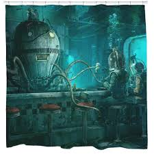 cool shower curtains. Perfect Shower Octopus Diner Shower Curtain Throughout Cool Curtains E
