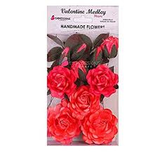 Rose Paper Flower Making Expressions Craft Indian Rose Red Handmade Paper Flowers For