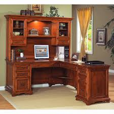 corner office desk hutch. Corner Office Desk With Hutch Beautiful Modern Brown Varnished Maple Small Monitor Stand