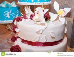 White Wedding Cake Stock Image Image Of Fancy Elegant 51600105