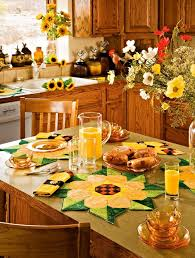 image of country kitchen sunflower decor