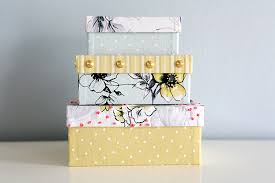 Storage Boxes Decorative Fabric Caught On A Whim DIY 'That's a Wrap' Fabric Covered Boxes 22