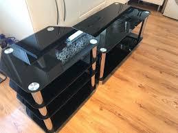 hygena matrix coffee table and console entertainment unit