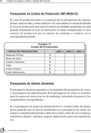 Capitulo V Estudio De Ingresos Costos Y Gastos Del Proyecto Pdf