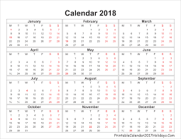 yearly printable calendar 2018 blank yearly calendar 2018 printable