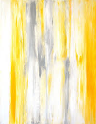 grey and yellow abstract art painting by t30gallery 110 00
