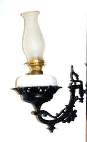 oil lamp sconces antique wall sconce auction catalog