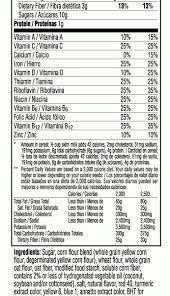 now is a good time to partner with kellogg s with regard to nutrition label for fruit loops